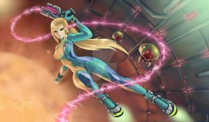 Zero Suit Samus by luigiix