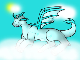 Chibi Ice Dragon by Snowstorm102