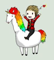 Llamacorn + Mikey Way by KateAnnexTerrasochi
