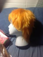 Short Orange wig by Ineedaname9