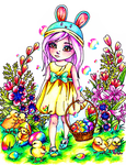 psychedelic easter by xenaferetek