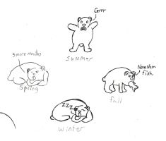 Life cycle of a Bear designs Sketches by Poorartman