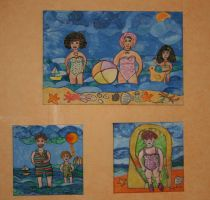 summer paintings at my wall by ingeline-art