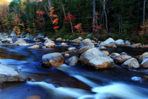 Swift River flows into Autumn by Celem