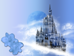 Castle in the Clouds Wallpaper Stock BKG by WDWParksGal-Stock