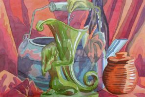 Watercolor Still life 1 by pikajane