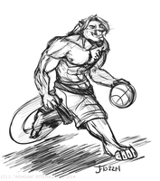COMMISSION: Basketball Cougar by Rehgan