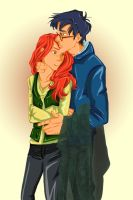 harry and ginny color by ElberethStargazer