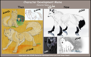 Chara Development_White by WhiteSpiritWolf