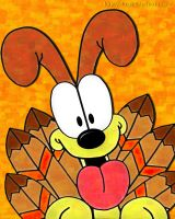 Turkey Day Odie by ohara916