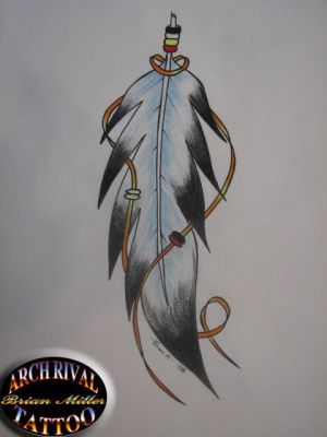 Amy believes that having the Native American eagle feather tattooed across