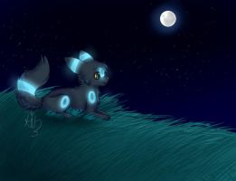 umbreon speed paint by chibi-puppy12