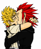 AkuRoku Kiss by Dial-P-For-Placey