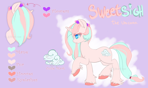 .MLP OC: Sweetsigh ref. by Kikuri-Tan