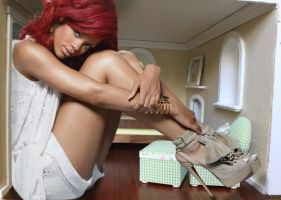 Rihanna in tiny bedroom by lowerrider