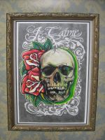 Je T'aime Skull and Roses by wilson419