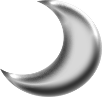 Moon Silver Png Clipart by clipartcotttage