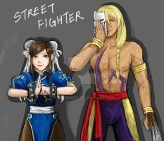 Street Fighter/Ace Attorney cosplay by LaDyRvE