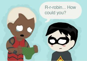 Aqualad's Problem with Robin by SuperheroObsessed