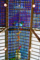 Colourful Glass Roof 02 by Fea-Fanuilos-Stock