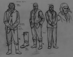 spitfire pilots rough sketchs by bordon