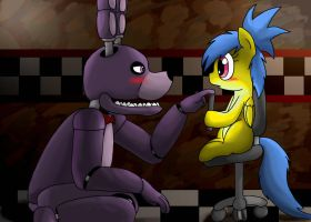 Fnaf - Hello my sweety by Creeperchild