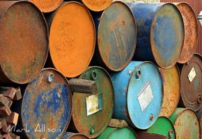 Rusty Oil Drums by Mark-Allison