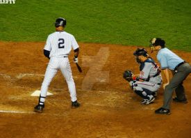 Jeter at Bat by Hey-There-Lefty