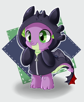 Spike the baby nightfury by hikariviny