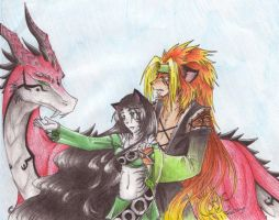 Kyoji, Zela, and the Dragon by Fia-Takaya