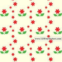 Free Flower Pattern by 123freevectors