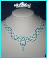 Blue Bolero Necklace by AmbeeAnts