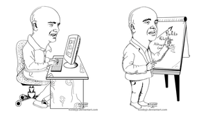 Newsletter Double Caricature by TCosbyJr
