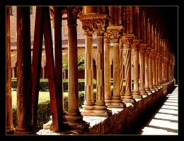Colonnade In Garden Of The Monastery, Palermo 1 by skarzynscy