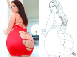 SOPHIE DEE PENCIL SIDE2SIDE by Artistik-Bootya