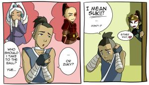 Sokka's date to the ball by Go-Devil-Dante