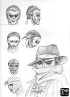 Phantom Facial Sketches by NinjaDog