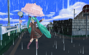 Rainy Day Miku by MMD-francis-co