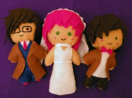 Doctor Who plushes by Ligechan