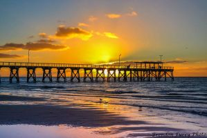 Largs bay Jetty At Sunset by Kargroth