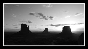 Monument Valley 2 BW by Boofunk
