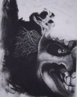 Clown in Charcoal by hawkke