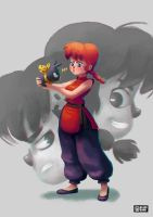 Ranma 1/2 fanart by BlackRamu