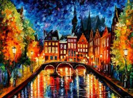 "AMSTERDAM NIGHT"" by Leonidafremov"