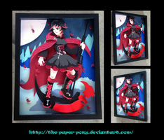 11 x 14 RWBY Ruby Rose Shadowbox by The-Paper-Pony