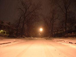 Snow Street by Greyhound-Bus
