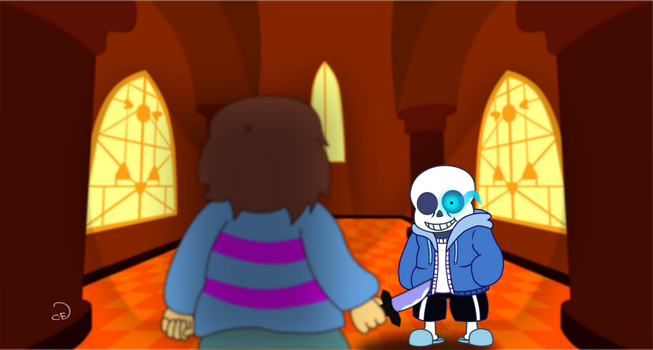 Undertale Sans vs Human by Cogs-Fixmore