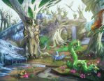 Starfall Spring Glade by Dreamkeepers