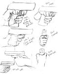 How to draw a handgun grip by shinsengumi77