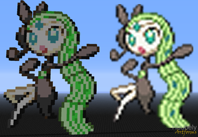 Meloetta - Minecraft Art by HbubelyArtForms